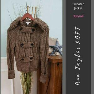LOFT   Button Up Sweater Jacket